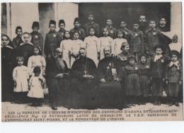 Orphelin D'Adana   Avec Patriarche De Jérusalem  VersoAbbé P Magnard Tournon - Disasters