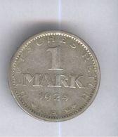 1 Mark Allemagne / Germany 1924 A - TTB - [ 3] 1918-1933 : República De Weimar