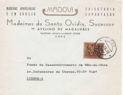FAFE , 1972 , Commercial Cover , MADOVI , Madeiras De Santo Ovídio  ,  Avelino Magalhães  , Medieval Knight Stamp - 1910-... République