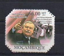MOZAMBIQUE. 2011. POLITICS. LECH WALESA. MNH (6R1338) - Unclassified