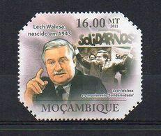 MOZAMBIQUE. 2011. POLITICS. LECH WALESA. MNH (6R1339) - Unclassified