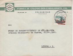 FELGUEIRAS , 1972 , Commercial Cover , SIC , Fabrica De Calçado Dos Carvalhinhos  , Torre Dos Clérigos  Stamp - 1910-... Republic
