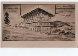 Vue Anticipée Addret_hotêl Courchevel  ( Emile Debermardi   Architecte   1950 ) - Courchevel