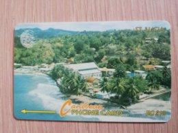 ST LUCIA    $ 10   CABLE & WIRELESS  STL-16Aa  16CSLAa        Fine Used Card ** 2414** - Sainte Lucie