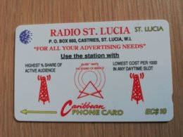 ST LUCIA    $ 10   CABLE & WIRELESS  STL-17A  17CSLA        Fine Used Card ** 2417** - Saint Lucia
