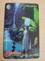 ST LUCIA    $ 10   CABLE & WIRELESS  STL-21A  21CSLA       Fine Used Card ** 2421** - Saint Lucia