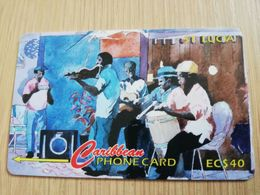 ST LUCIA    $ 40   CABLE & WIRELESS  STL-21C  21CSLC       Fine Used Card ** 2422** - Saint Lucia