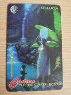 ST LUCIA    $ 10   CABLE & WIRELESS  STL-22C  22CSLC       Fine Used Card ** 2424** - Saint Lucia