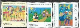 Poland,  Scott 2001 # 3606-3608  Issued 2000,  Set Of 3, MNH,  Cat $ 3.50, Child Art, Folk Tales - 1944-.... Republic