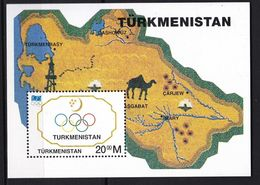 TURKMENISTAN 1994    Organisation Internationale   C I O Centenaire De L Organisation  Bloc Feuillet - Turkmenistan
