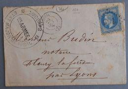 EMPIRE LAURE 29 SUR LETTRE DE ARGUEIL A FLEURY LA FORET DU 29 OCTOBRE (GROS CHIFFRE 160) - 1849-1876: Période Classique