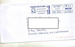 Lettre Flamme Ema Saint Diziers College Claudel - Marcophilie (Lettres)