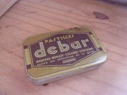 BOITE PHARMACIE Début 20eme - Boite De Médicament  PASTILLES  DEBAR COCAINE  BAR LE DUC MEUSE - Boxes