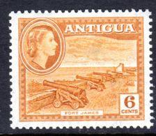 ANTIGUA - 1953 DEFINITIVE 6c STAMP MULT SCRIPT CA FINE MOUNTED MINT MM * SG 126 REF C - 1858-1960 Crown Colony