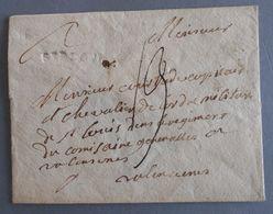 MARQUE POSTALE DE ST FLOUR A VALENCIENNE (CURSIVE STFLOUR) - Marcophilie (Lettres)