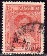 ARGENTINA 1935 1951 BERNARDINO RIVADAVIA CENT. 10 USATO USED OBLITERE' - Argentina