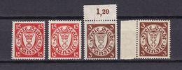 Danzig - 1925/35 - Michel Nr. 214 + 216 - Postfrisch/Ungebr. M. Falz - 42 Euro - Danzig