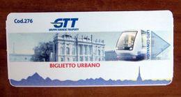 ITALIA Ticket  Bus Metro  Torino GTT - Nuovo - Europe