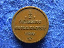 NORWAY 1/2 SKILLING 1840, KM305.1 - Norvège