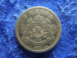 SWEDEN 1 KRONA 1877, KM747 - Suède