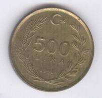 TURKEY 1991: 500 Lira, KM 989 - Turquie