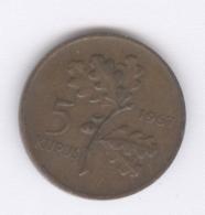 TURKEY 1967: 5 Kurus, KM 890.1 - Turquie