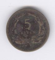 TURKEY 1951: 5 Kurus, KM 887 - Turquie