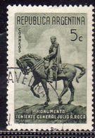 ARGENTINA 1941 STATUE OF GENERAL JULIO ROCA MONUMENTO STATUA GENERAL CENT. 5c USATO USED OBLITERE' - Argentina