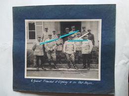 1915 Franchey D'Esperey Général GAN GAE Groupe Armées Nord Est Onze Généraux Tranchée Poilu Ww1 14-18 Photo - Guerra, Militari
