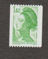 Année 1982 NEUF ** 2191 **Liberté De Gandon - 1977-81 Sabine Of Gandon