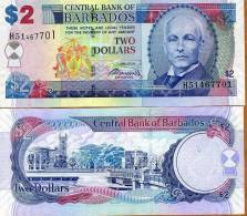 Barbados, $2, 2007, P-66-New  UNC - Barbados