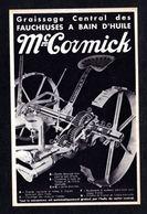 - Belle Carte Publicitaire -Graissage Central Des Faucheuses à Bain D'Huile Mc-Cormick ( Publicité Et Matériel Agricole) - Tractores