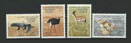 Algerie 447/450 ** Faune Saharienne - Fouette Queue Autruche Fennec Gazelle - Argelia (1962-...)