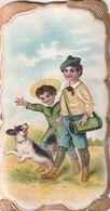956 - CHROMO CHOCOLAT POULAIN GAUFFREE . ENFANTS CHIEN . SCANS RECTO VERSO - Poulain