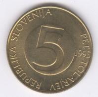 SLOVENIA 1995: 5 Tolarjev, KM 6 - Slovenia