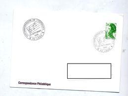Lettre Cachet Lievin Anniversaire Harmonie - Postmark Collection (Covers)
