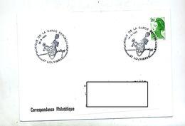 Lettre Cachet Louviers Musique Garde Republicaine - Postmark Collection (Covers)