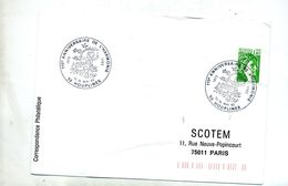 Lettre Cachet  Houplines Anniversaire Harmonie - Postmark Collection (Covers)
