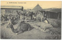 CPA KAYES ( Mali - Soudan Français ) - Caravane Au Repos - Collection Albaret , Kayes N°30 - Mali