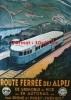 Reproduction D'une Photographie D'une Affiche Route Ferrée Des Alpes De Grenoble à Nice En Autorail P.L.M - Repro's