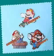 Lot 3 Pin's Mario Bross, NITENDO, Jeux Vidéo - Jeux