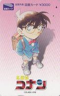 Carte Prépayée JAPON - MANGA - Detective CONAN** ONE PUNCH **  JAPAN ANIME Prepaid Tosho Card - BD Comics - Holmes 12038 - BD