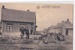 Poelcapelle ( Langemark - Poelkapelle ) English Tank Mark IV - Statiestraat Rue De La Gare  Station- 1914-1918 Panzer - - Langemark-Poelkapelle