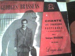 33T Georges Brassens Chansons Poétiques Mauvaise Parapluie Cheval Fossoyeur Chasse Hécatombe - Formats Spéciaux