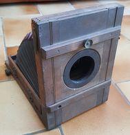 Appareil Photo Bois Soufflet Plaques De Verre - Appareils Photo