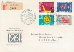 Suisse - 20/02/1961 - FDC - Propagande  - Lettre  Recommandée De Bern Pour Gryon - Brieven En Documenten