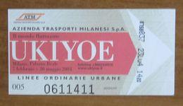 ITALIA Ticket  Bus Metro ATM Milano Ukiyoe 2004 Biglietto  Con Filigrana - Europe