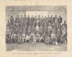 """1900  Hts. Fourneaux De Saulnes   Raty - Mine De Sancy Trieux  """" Mineurs Et  Pompes électriques Souterraines   """" - Documents Historiques"""