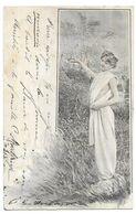 Illustration Art Nouveau Femme Seins Nues - 1900-1949