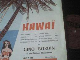 33T Gino Bordin Et Ses Guitares Fille D'Hawaï Mauna Dona Maria - Instrumental